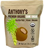 Organic Cane Sugar (3 Pounds) by Anthony's, Certified Gluten-Free & Non-GMO