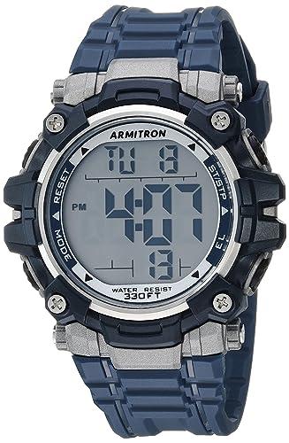 Armitron Sport 40/8427NVY - Reloj digital para hombre, cronógrafo, correa de resina, color azul marino: Amazon.es: Relojes