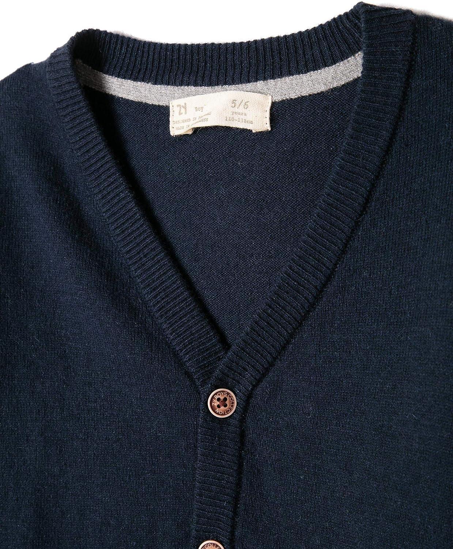 ZIPPY Cardigan Knit Black Iris Giubbotto Bambino