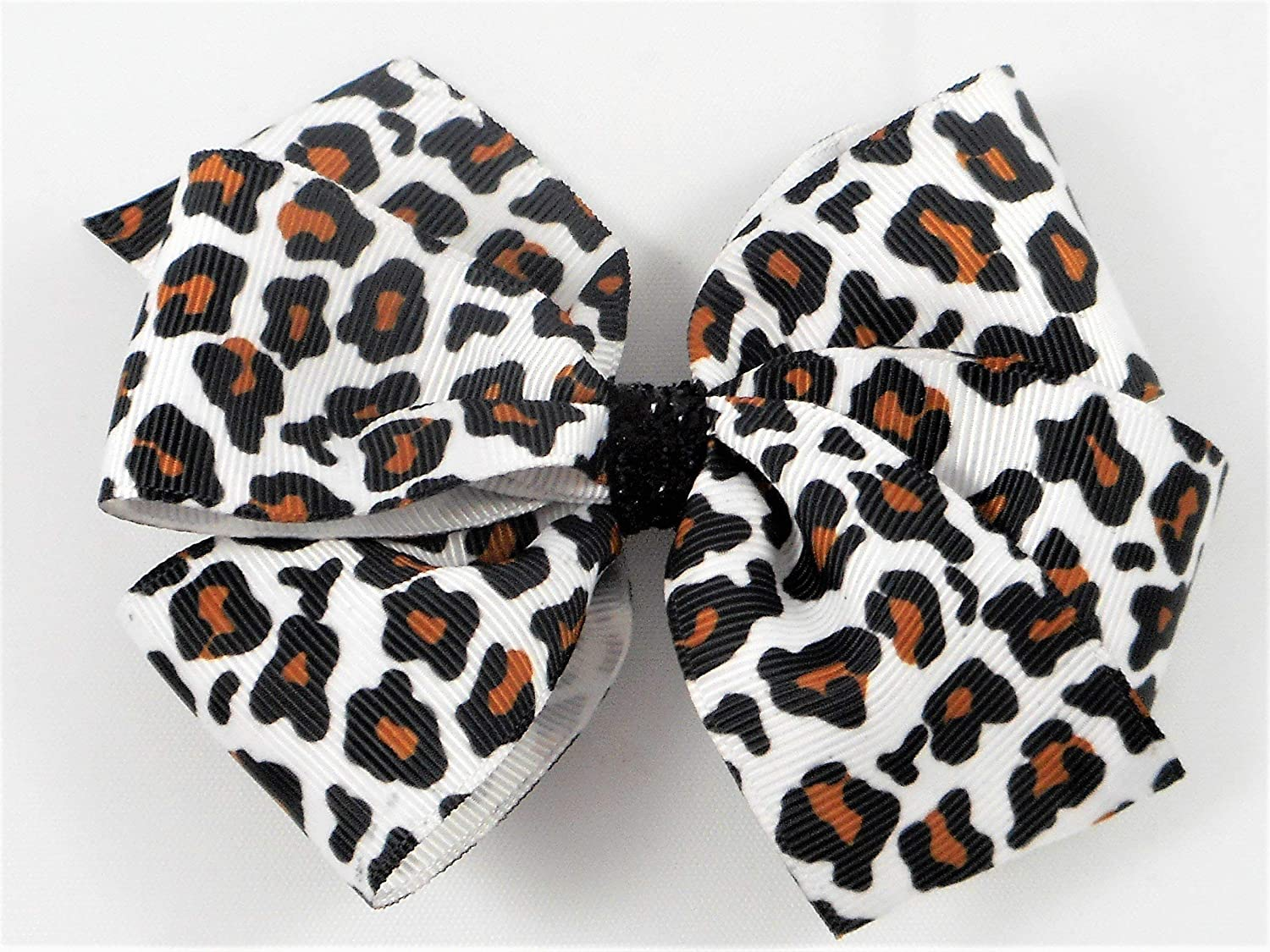 Leopard print hairbow