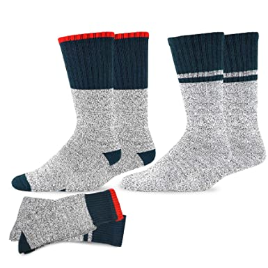 a070481073f83 Soxnet Eco Friendly Heavy Weight Recycled Cotton Thermals Boot Socks 2-Pack  (9-