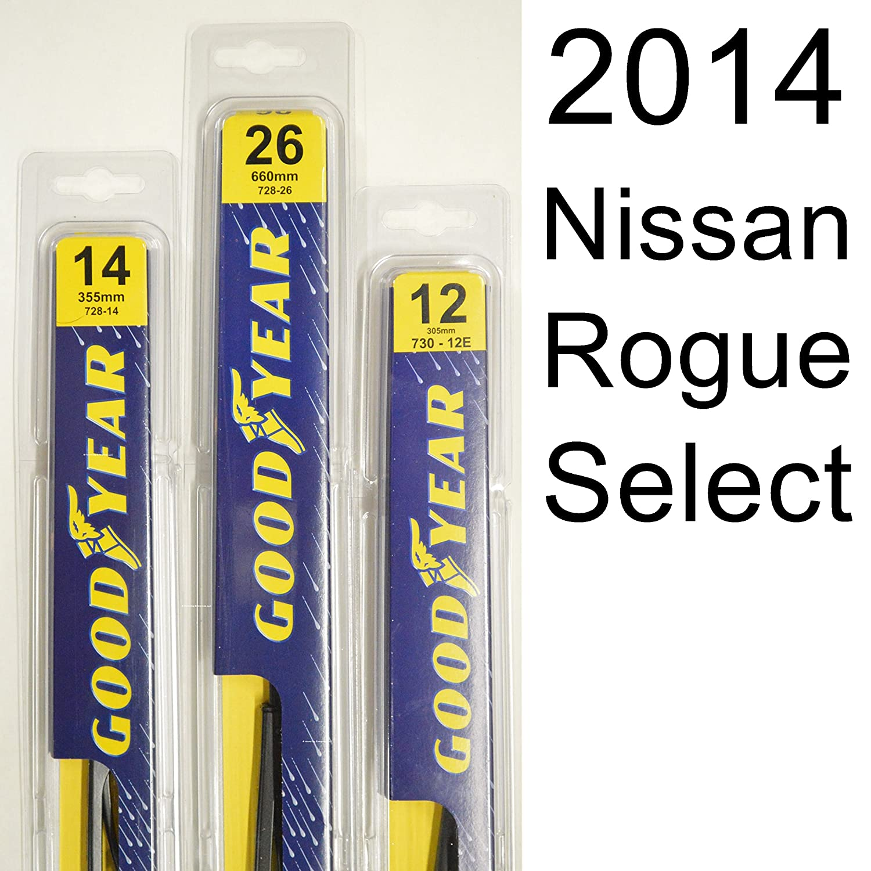 Nissan Rogue Select Limpiaparabrisas Kit (2014) - El juego ...