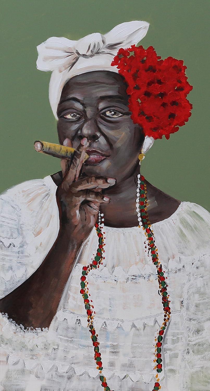 Angie Decoration Cuadro Figurativo Moderno Cubana en Oleo, Acrílico, Multicolor, 140x4x70 cm