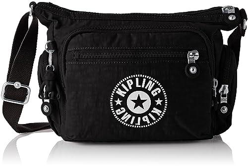 166281c239 Kipling Gabbie S, Women's Cross-Body Bag, Black (Lively Black), 16.5 ...