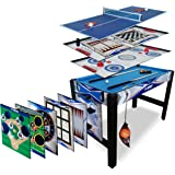 Triumph 13-in-1 Combo Game Table Includes Basketball, Table Tennis, Billiards, Push Hockey, Launch Football, Baseball…