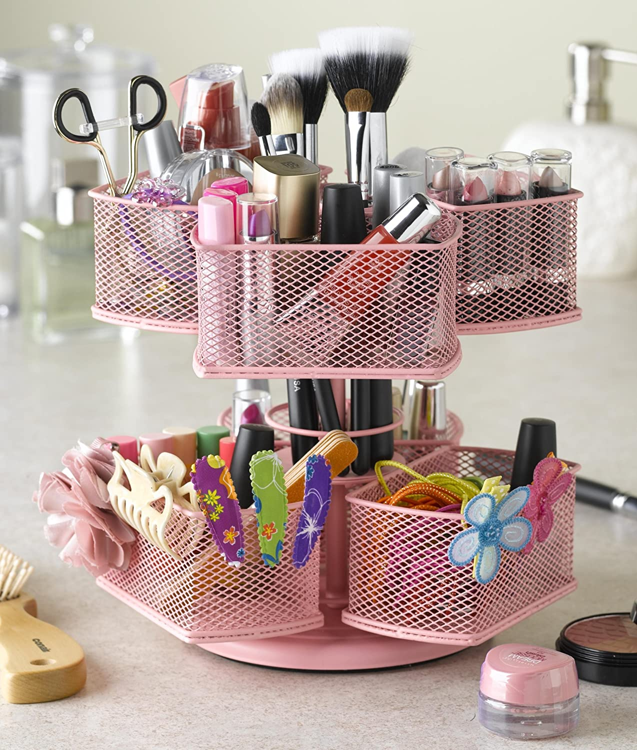 & Amazon.com: Nifty Cosmetic Organizing Carousel Pink: Beauty
