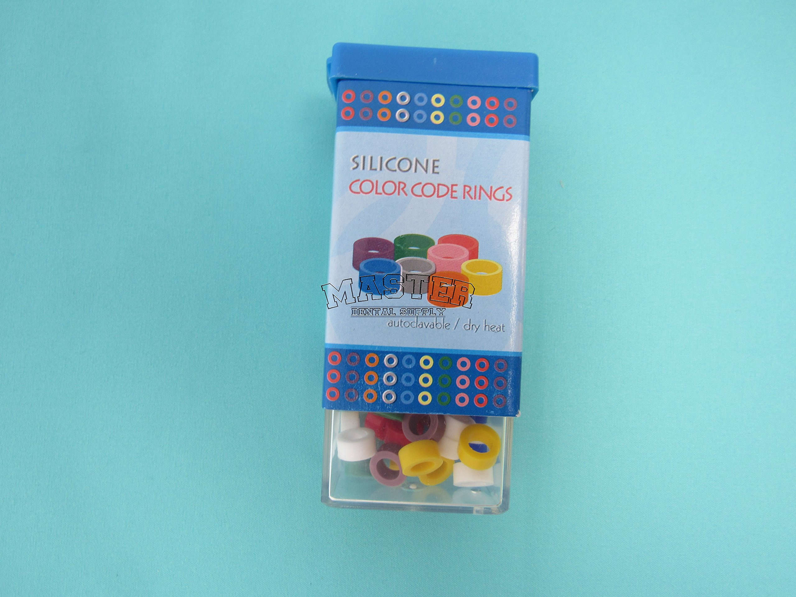 80 Dental Silicone Rings for #6 and #8 Instruments Identification LARGE Size 8 Assorted Color Coded AUTOCLAVABLE