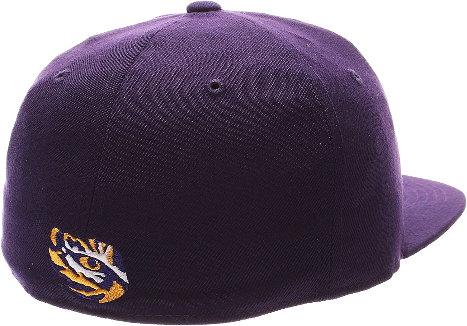 Purple NCAA Zephyr Lsu Tigers Mens M15 Fitted Hat Size 7 1//2