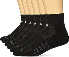 New Balance Men's Core Cotton 6 Pack Quarter Socks, White, Medium