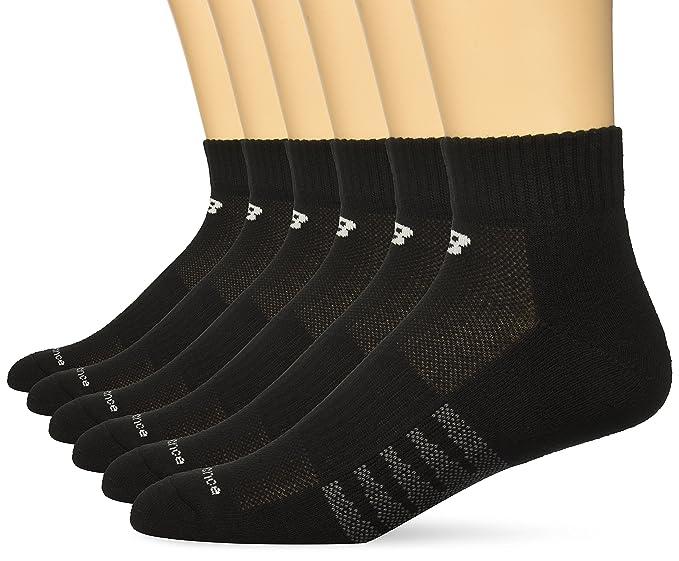 dcb43401cd7d8 Amazon.com: New Balance Men's Core Cotton Quarter 6 Pack Socks ...