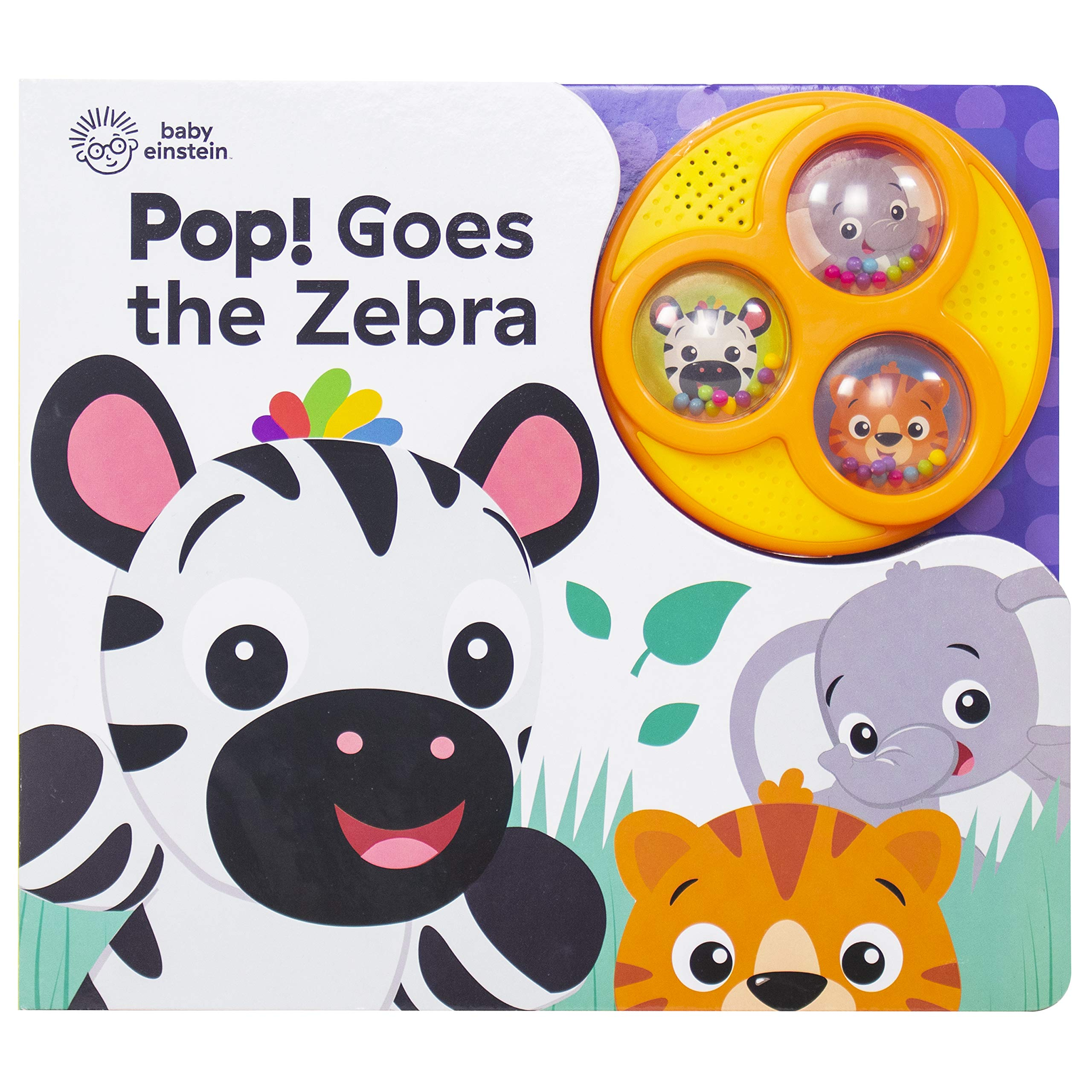Baby Einstein - Pop! Goes the Zebra - Popping Button Sound Book - PI