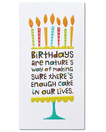 Amazon Com American Greetings Cake Birthday Card With Foil Gift Cards