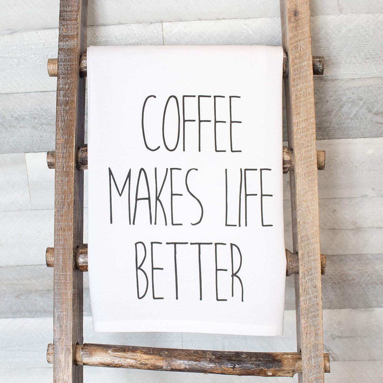 Coffee Makes Life Better premium tea towel