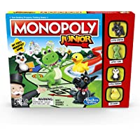 MONOPOLY - Junior - My First MONOPOLY Game - Fast, Simple Gameplay - Kid-Friendly properties - 2 to 4 Players - Board…