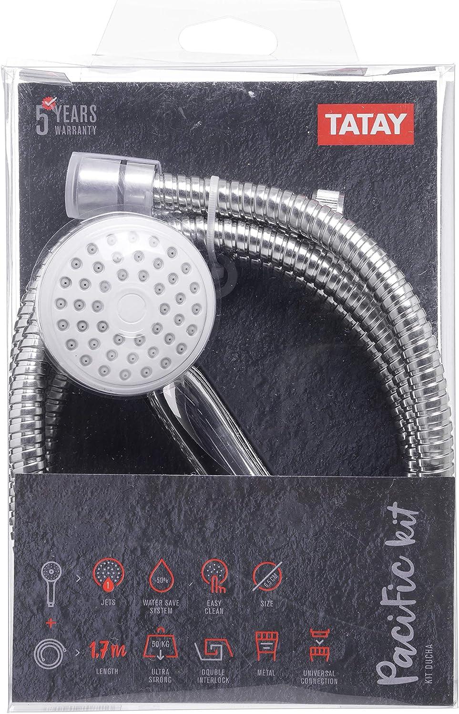 Tatay 3383209 Kit Ducha Cromado 16.00x7.50x26.00 cm
