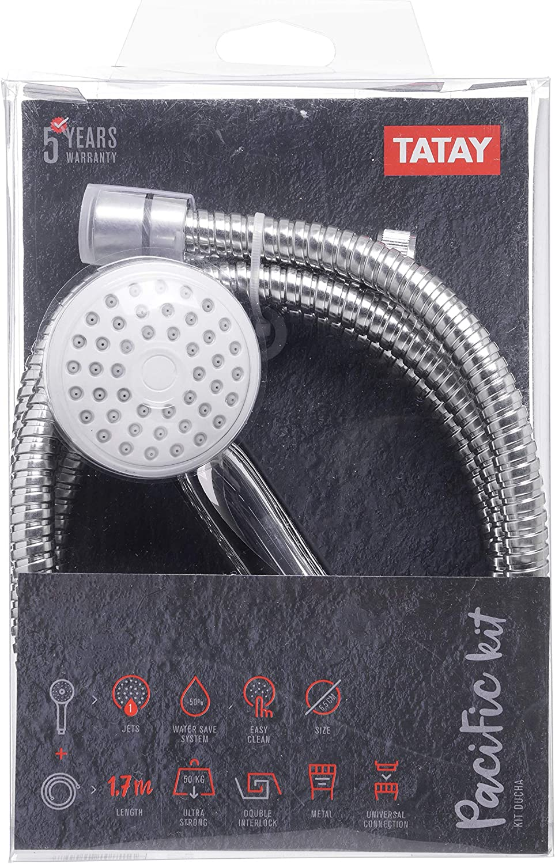 Tatay 3382209 Pacific Kit Ducha, Cromado, 16.00x5.50x26.00 cm ...