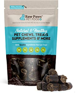 Raw Paws Grain-Free Sausage Beef Dog Treats for Large Dogs, Small Dogs & Puppies, 6-oz - Natural Free-Range Dog Treats Beef Sticks Bites - Dog Treats Beef sourced from Antibiotic, Hormone Free Cows