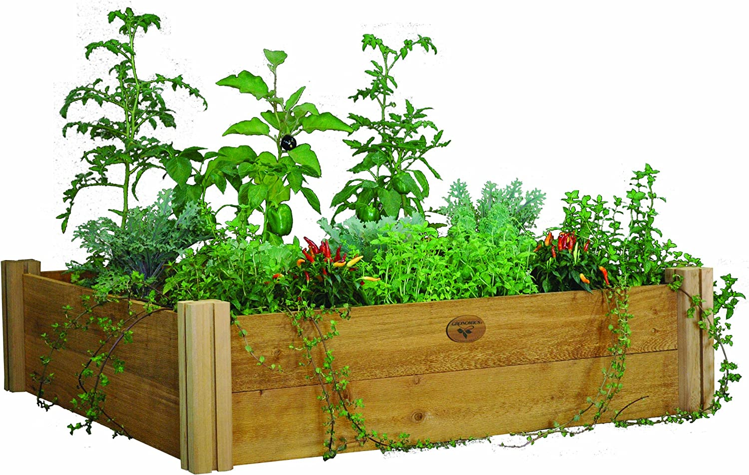 Gronomics MRGB-2L 48-48 48-Inch by 48-Inch by 13-Inch Modular Raised Garden Bed, Unfinished