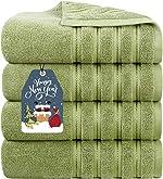 Luxury Plush 100% Cotton Large Bath Towels 700 GSM Soft Towels