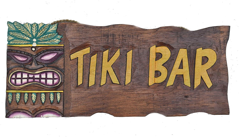 Tiki Bar Cartel de madera decorativa, para colgar en el Tiki ...