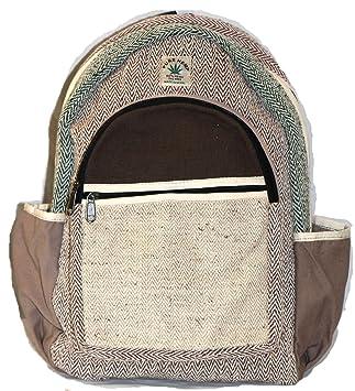 Mochila de fibra de cáñamo / Mochila de cáñamo / Daypack para la escuela, viajes