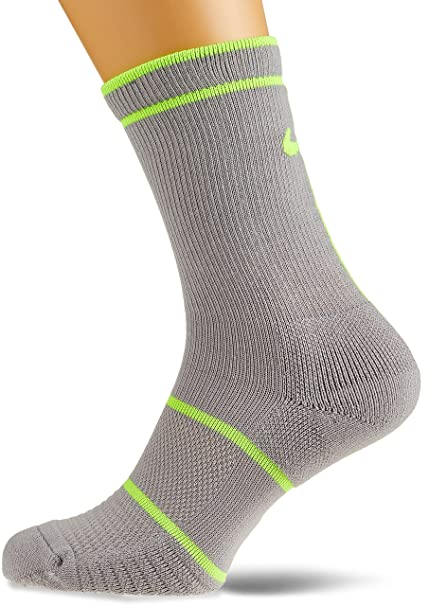 Nike Court Essentials Crew Calcetines, Hombre, Court Essentials Crew, Atmosphere Grey/Volt