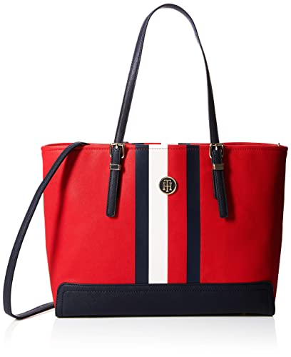 Tommy Hilfiger Honey Med Tote Print, Cabas femme, Rouge (Red