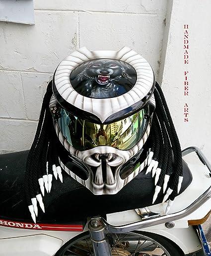 Amazon Com Hat 102 Custom Predator Motorcycle Helmet Sports