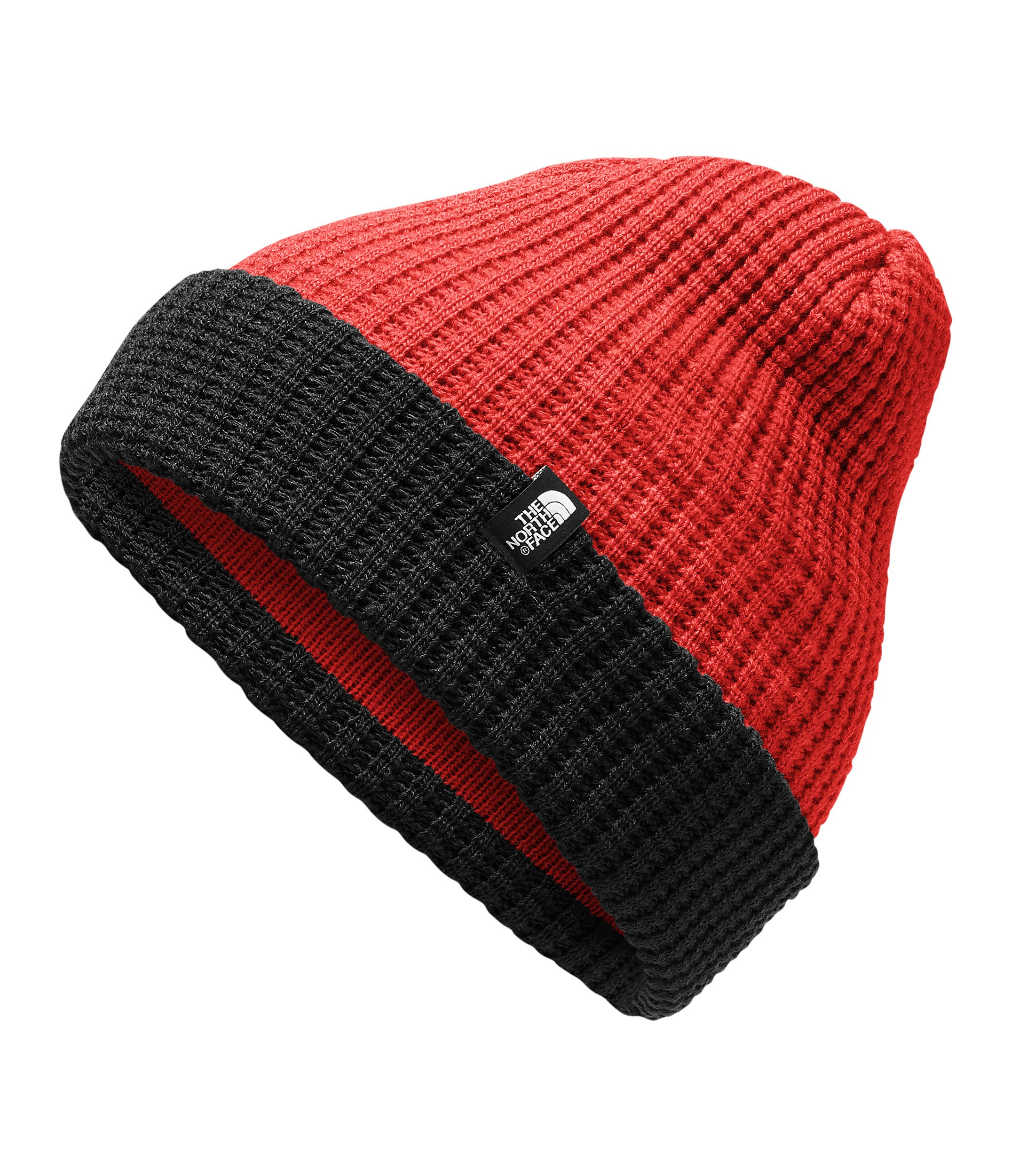 The North Face Kids Unisex Waffle Beanie (Big Kids) TNF Red/TNF Black SM