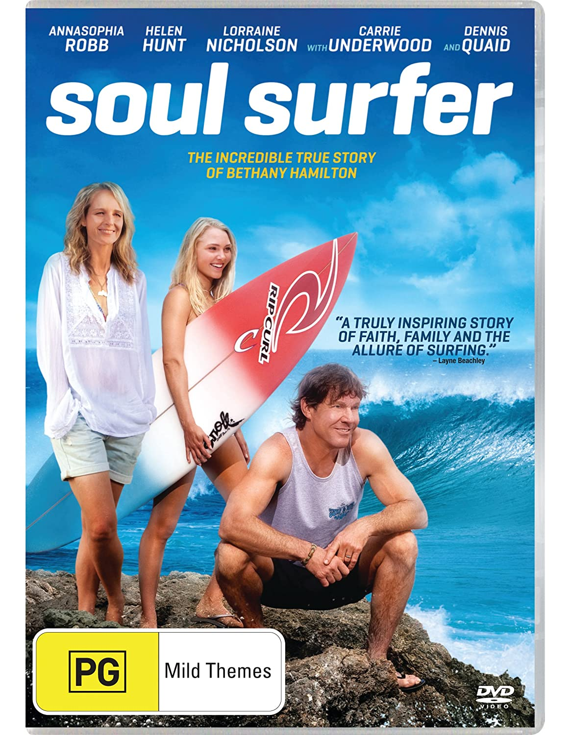 Amazon.com: Soul Surfer [DVD]: Annasophia Robb, Dennis Quaid, Helen Hunt  Lorraine Nicholson, Sean McNamara: Movies & TV