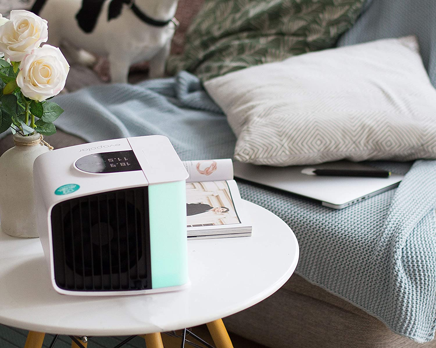Portable Air Conditioner EV-3000 with Alexa Support Stormy Grey Purifier and Humidifier Evapolar EvaSMART Personal Evaporative Air Cooler
