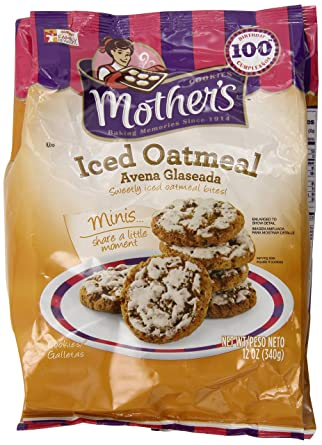 Mothers Iced Cookies Bag, Oatmeal, 12 Ounce