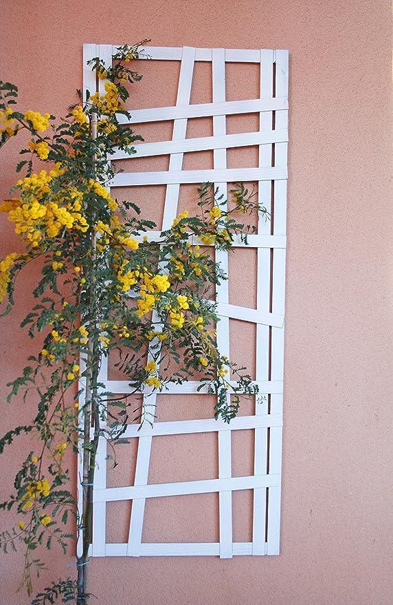 Celosía MADERA COMPOSITE Blanca 50x125 cm. Modelo Huahine: Amazon ...