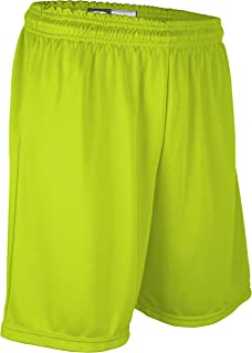 "product image for PT6477Y Youth Boy's and Girl's 7"" Basketball High Performance Athletic Short (Youth Small, High Vis Green)"
