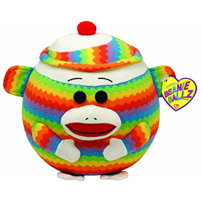 "Ty Beanie Ballz Sock Monkey 8"" Plush: Toys & Games"