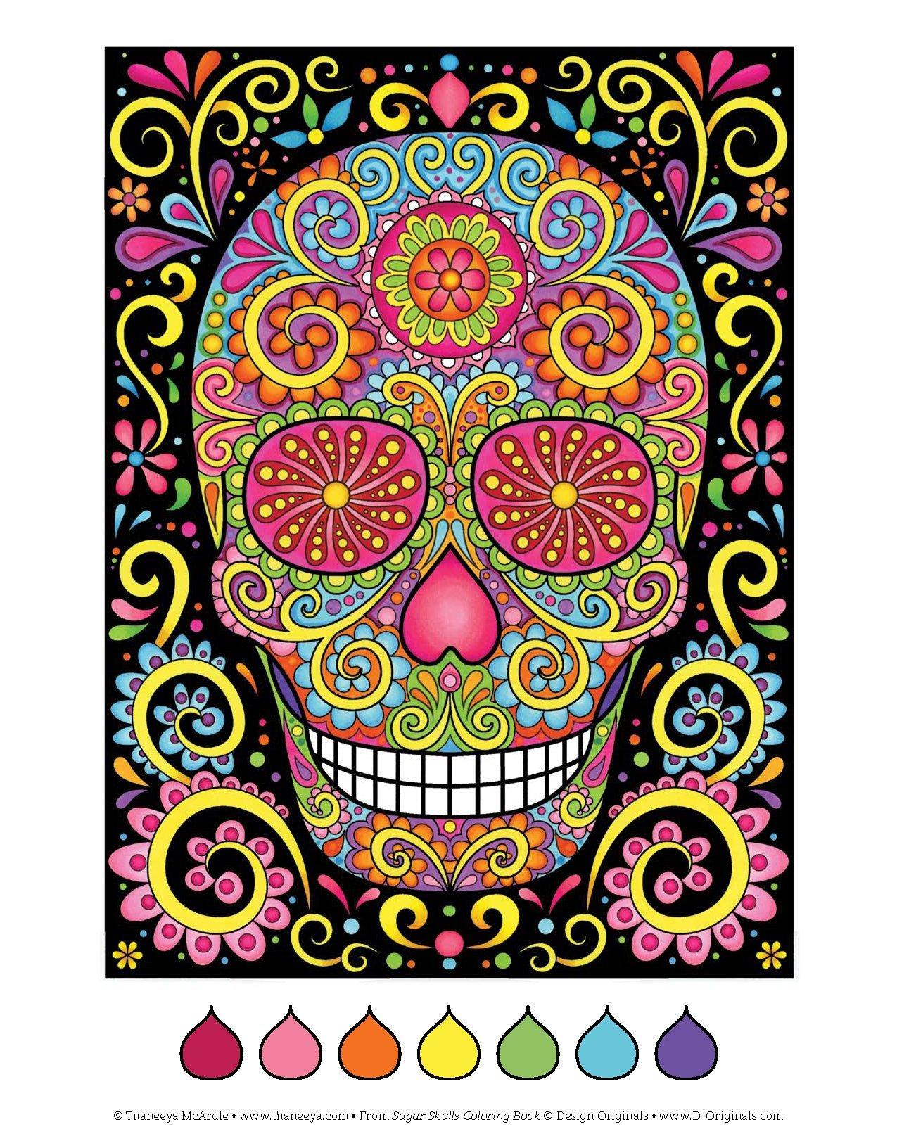 Amazon.com: Sugar Skulls Coloring Book (Coloring Is Fun) (Design ...