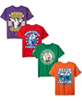WWE Boys' John Cena 4-Pack T-Shirt