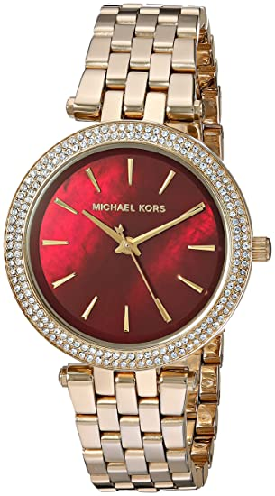 aac7ac6f938a Image Unavailable. Image not available for. Colour  Michael Kors Mini Darci  Analog White Dial Women s Watch-MK3583