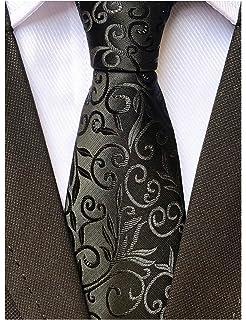 ca79e20e15df Mens Novelty Floral Wedding Tie Jacquard Woven Luxury Pattern Slim Necktie  3.15