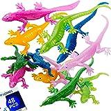 UpBrands Rubber Lizards Toys 9 cm, Bulk Set, Glitter Colors, Kit for Birthday Party Favors for Kids, Goodie Bags, Easter Egg