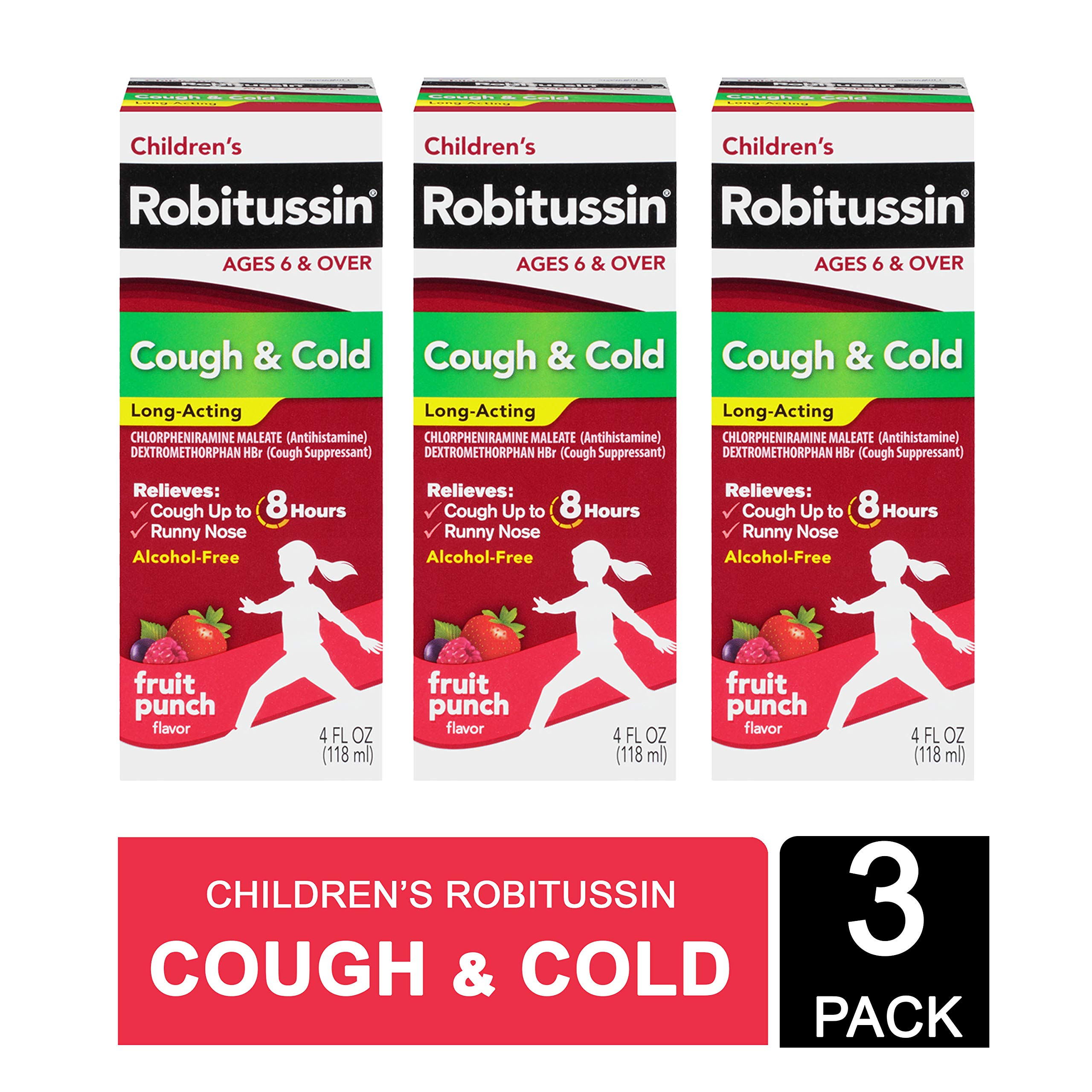 Robitussin Children's Cough & Cold Long Acting 3 X