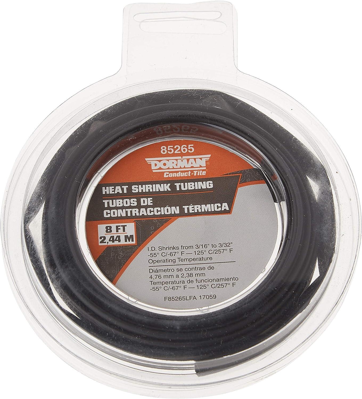 Dorman 85281 Black 3 12-10 Gauge PVC Heat Shrink Tubing