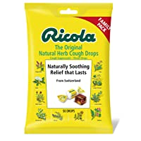 Ricola Original Herb Cough Drops, 50 Drops, Unique Swiss Natural Herbal Formula with Menthol, for Effective Long Lasting Relief, for Coughs, Sore Throats Due to Colds
