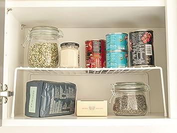 Bloomsbury Mühle – Küche Schrank Organizer – Draht Storage Rack – Regal  einfügen – freistehend – Weiß