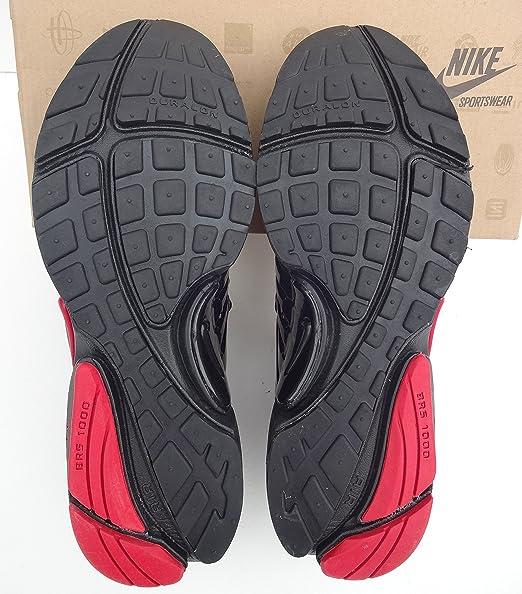 Nike Air Presto Rojo Negro Mens tamaño 11 Zapatillas Zapatillas Shox Zapatos: Amazon.es: Deportes y aire libre