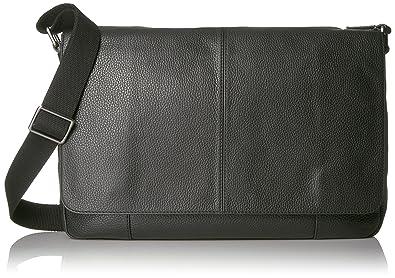 Amazon.com: Fossil Men's Mayfair Leather Messenger Bag, Black: Shoes