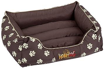 Hobbydog Cama de lujo para perro, color marrón con patas beige: Amazon.es: Productos para mascotas