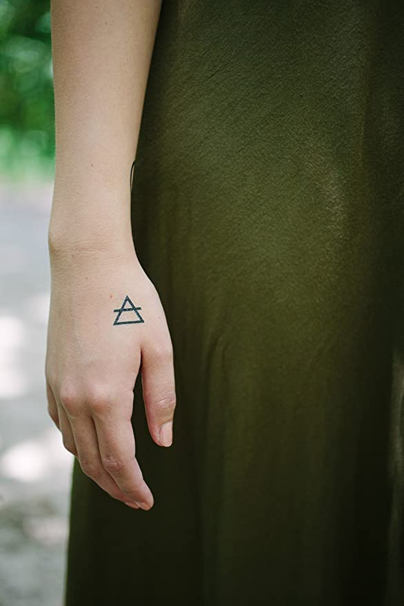 Juego de tatuajes temporales de yoga, flechas pequeñas, mandalas ...