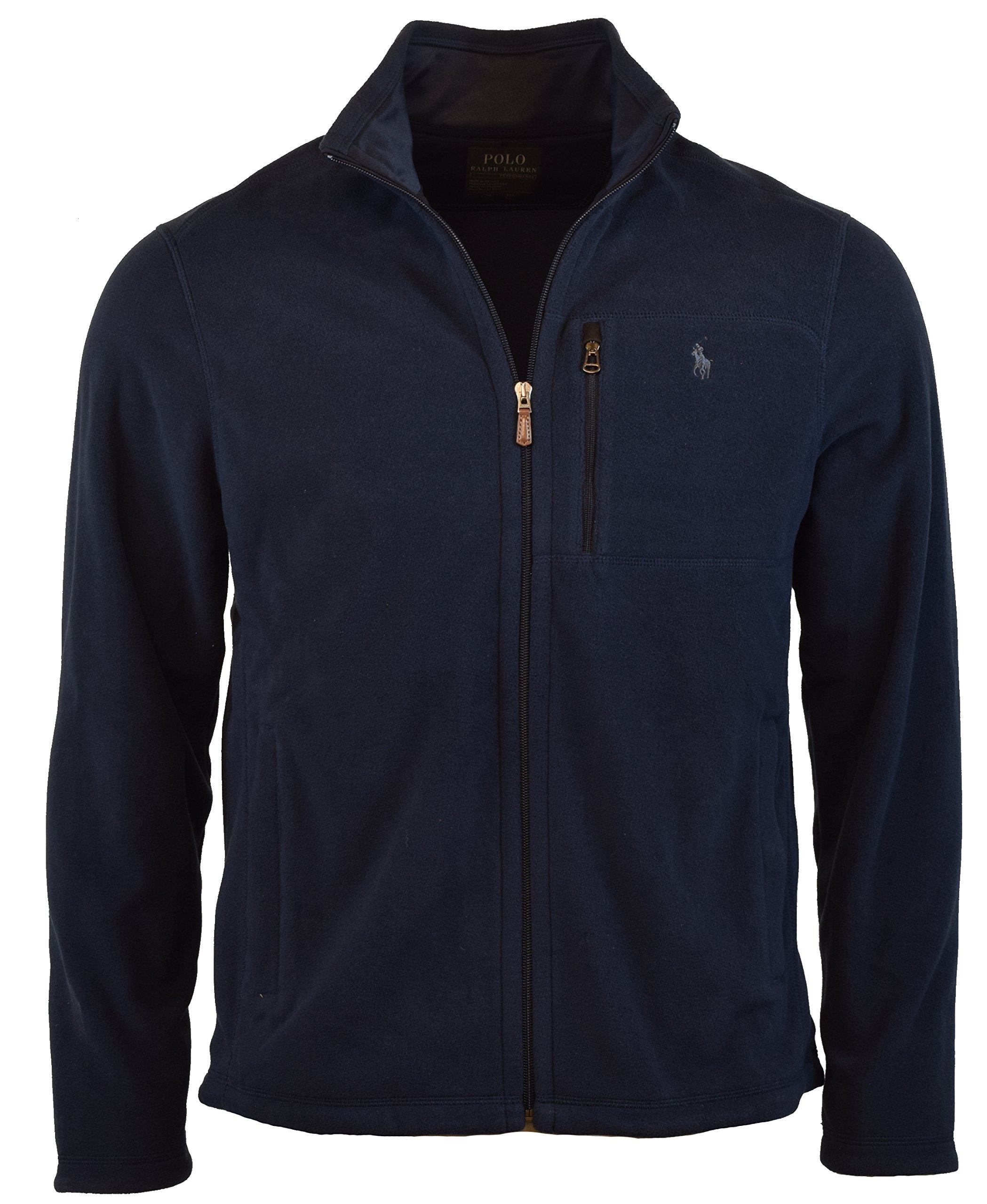 Polo Ralph Lauren Men's Performance Full Zip Fleece Jacket (L, Navy) by Polo Ralph Lauren