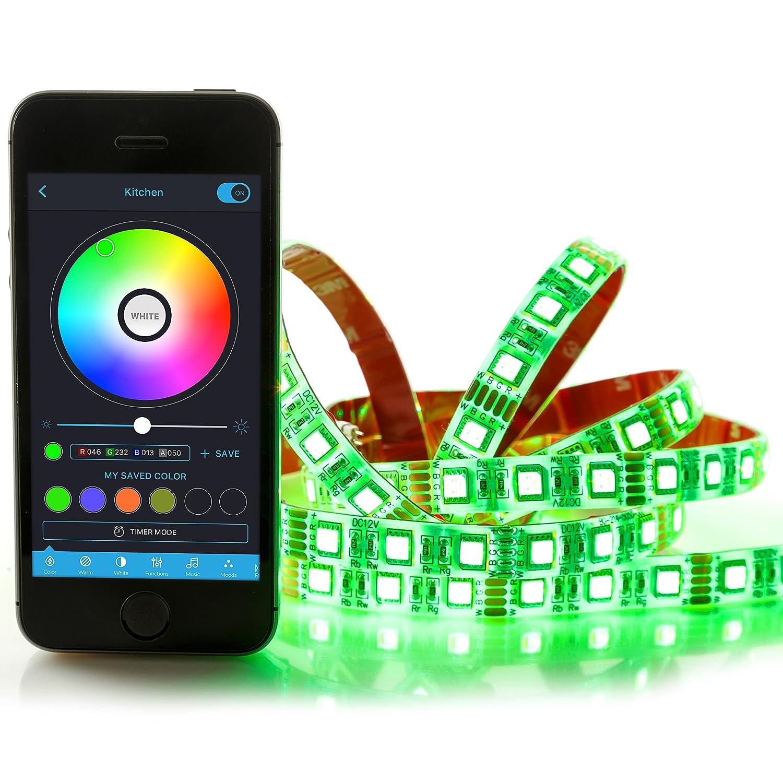 Lucero Smart LED Bluetooth Light Strip Kit - Adjustable, Dimmable ...